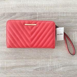 Aldo Red Wallet with Wrist Strap
